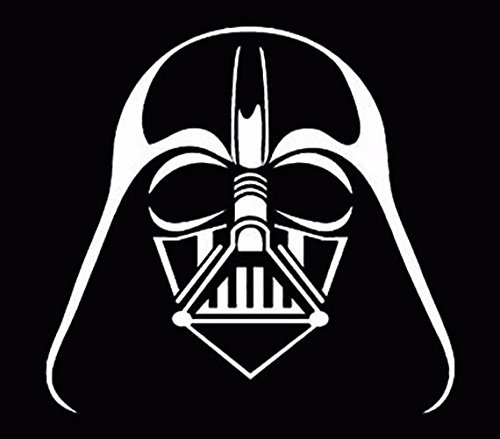 Darth Vader Sticker - Darth Vader window sticker vinyl decal car truck fun White, Die cut vinyl decal for windows, cars, trucks, tool boxes, laptops, MacBook - virtually any hard, smooth surface