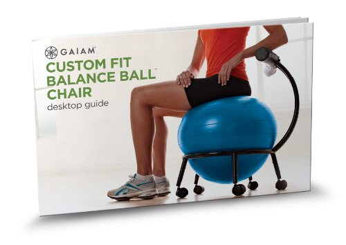 Gaiam Adjustable Custom-Fit Balance Ball Chair, Stability Ball Desk Chair with 55cm Yoga Ball, Our Best Ball Chair Choice