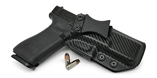 Concealment Express IWB KYDEX Holster: fits Glock 17 22 31 - Custom Fit - US Made - Inside Waistband - Adj. Cant/Retention (CF BLK, Right)