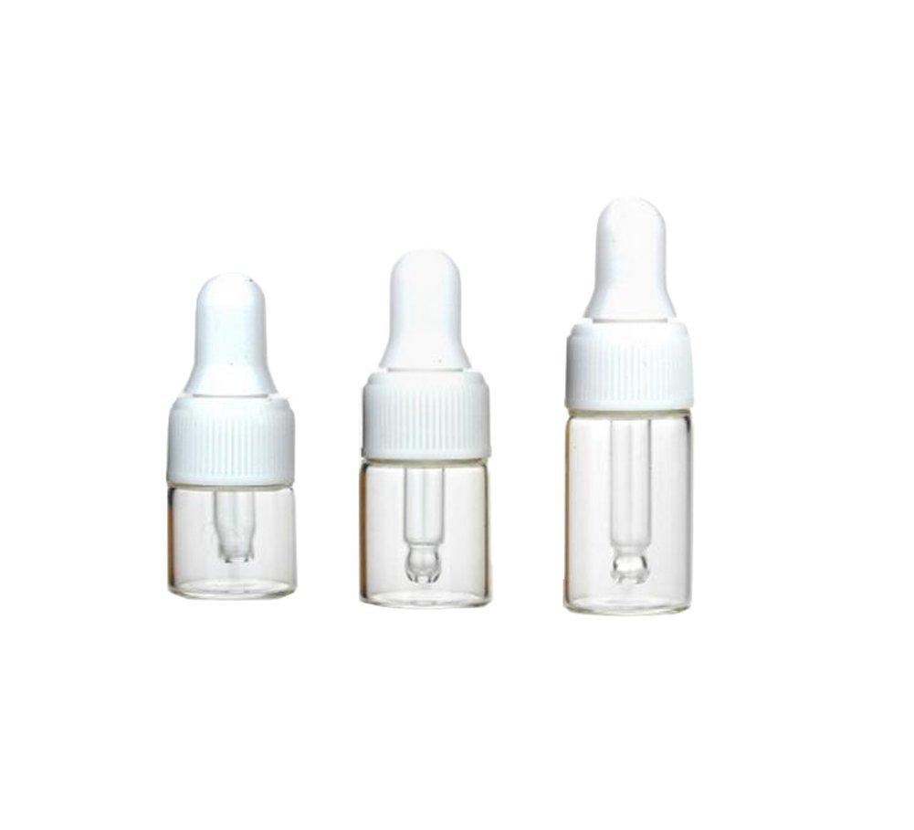 非常に高い品質 ガラススポイトボトルミニ1 Dropping/ 2// 3ml空CosmeticサンプルボトルEssential Oil Dropping Oil BottlesバイアルズPerfumeローション液体コンテナボトル白とガラススポイトキャップ15個パック 3ml 3ml B076J93GHD, 志太郡:75fd3c5f --- egreensolutions.ca