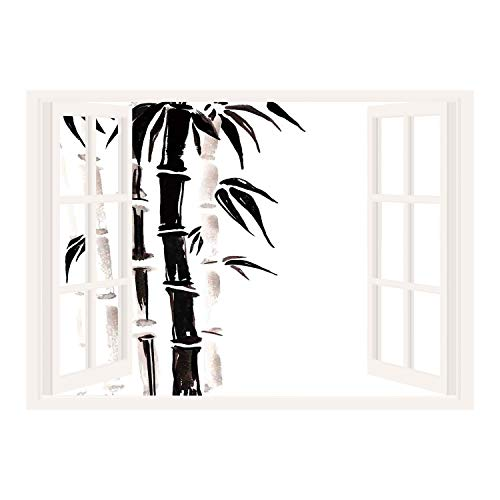 Cheap  SCOCICI Wall Mural, Window Frame Mural/Bamboo House Decor,Bamboo Pattern in Traditional Chinese..