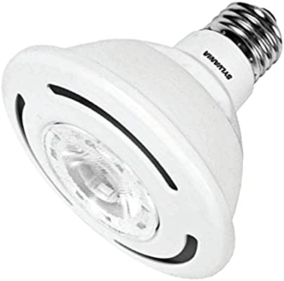 SYLVANIA Ultra LED 10W PAR30 Dimmable Narrow Flood 3000K bulb - - Amazon.com