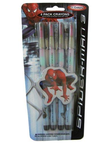 Marvelスパイダーマンクレヨン–4パッククレヨンセットの商品画像