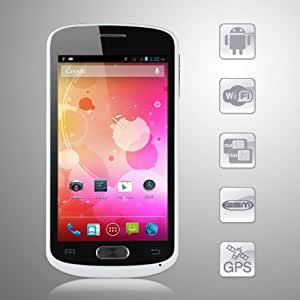 Android 4.1 Jelly Bean CUBOT A8809 Smart Phone 4.7 Inch IPS QHD Touch Screen MTK6577 Dual core GPS 3G WIFI 8.0MP Camera (White)
