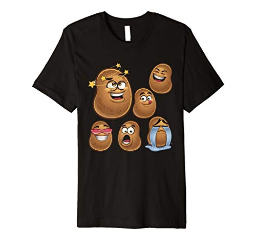 (potatoes's emoji , I love potato Funny gifts premium t-shirt)