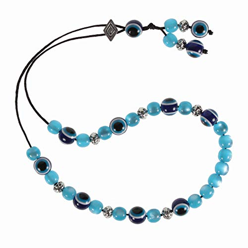 Evil Eye Worry Beads - Blue & Transparent Turquoise ()