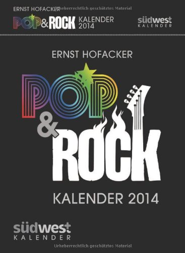 Pop & Rock Kalender 2014 Textabreißkalender