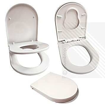 Great Premium Soft Close White D Shape Toilet Seat For Young Families Child  Friendly