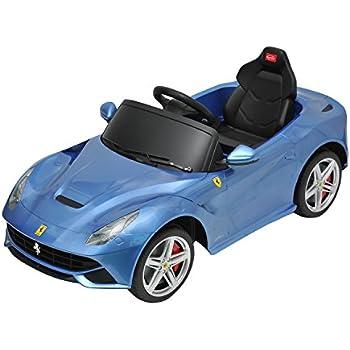 ferrari f12 kids 6v electric ride on toy car w parent remote control blue