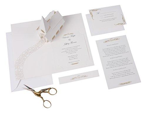 UWP LUXE RSW001 Sabuda Wedding Invitation, White