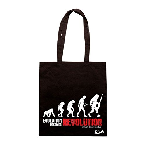 Borsa PLANET OF APES EVOLUTION BECOMES REVOLUTION - Nera - FILM by Mush Dress Your Style