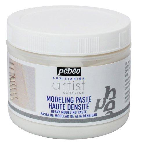 Pebeo 500 ml schwere Modellierpaste, weiß. weiß. 521900