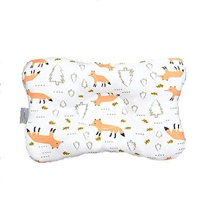 US Fashions Infant Cute Patterns Printed Corrective Pillow Pure Cotton Shaped Bone 0-1T Newborn Arc-Shaped Concave Pillow