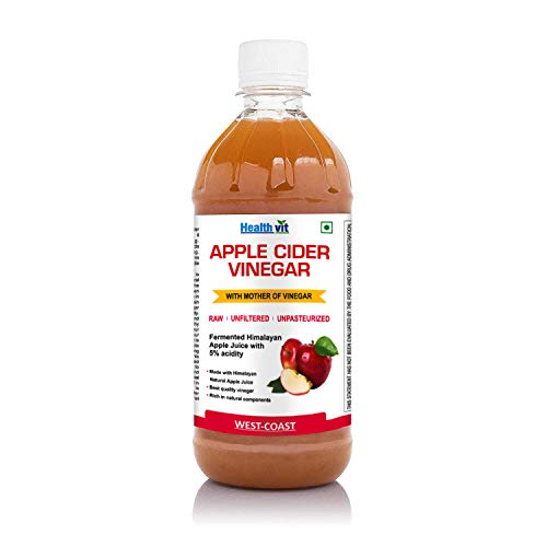 HealthVit Apple Cider Vinegar with Mother Vinegar Unfiltered – 500 ml