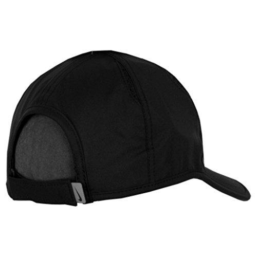 31e5d6b26cd65 NIKE Rafael Nadal Rafa Bull Premier 2.0 Featherlite Adjustable Tennis Hat  (Black with Neon Signature Logo & Embroidered Swoosh)