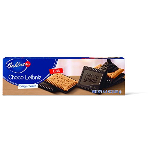 Bahlsen Choco Leibniz Dark Cookies (3 boxes) - Leibniz Butter Biscuits topped with a thick layer of European Chocolate - 4.4 oz boxes