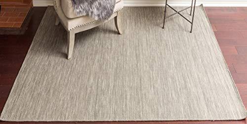 - Homemusthaves 100% Wool Solid Color Flat Weave Handmade Area Rug Carpet (9' x 12', Grey)