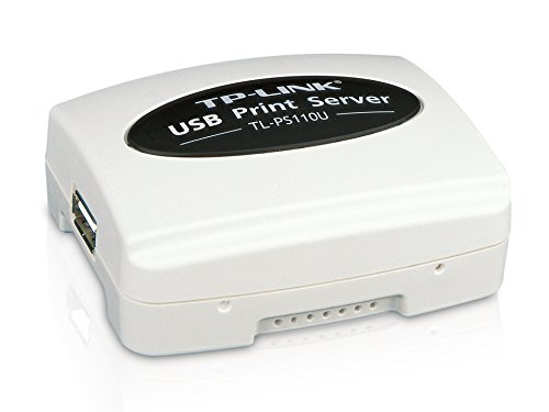 TP-LINK Tl-Ps110U Single Usb2.0 Port Fast Ethernet Print Server (Color: Multicolor, Tamaño: One Size)