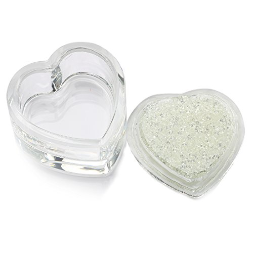 Heart Design Box (H&D Crystal Jewelry Box Heart-shaped Designs with Inlaid Small Diamonds)