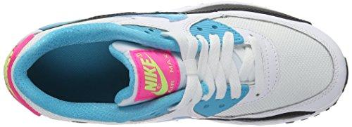 Nike Barns Air Max 90 Mesh (gs), Wlf Gry / Ttl Crmsn-dk Prpl Dst Hvid Sort