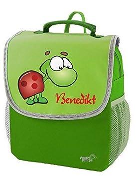 6L Gr/ün Mein Zwergenland Kindergartenrucksack Happy Knirps Next mit Name Bagger