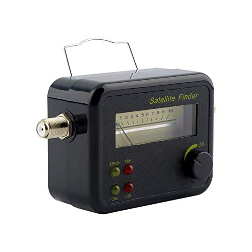 Plastic Black Mini Digital LCD Display Satellite Signal Finder Meter Tester With Excellent Sensitivity ()