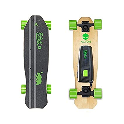 Review ACTON BLINK Lite | Summer Sale | World's Lightest Electric Skateboard for Youth | Up To 5 Mile Range | 10 MPH Top Speed | Bluetooth Remote Control Included