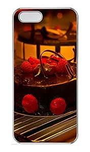 iPhone 5 5S Case Delicious Chocolate Strawberry Cake PC Custom iPhone 5 5S Case Cover Transparent
