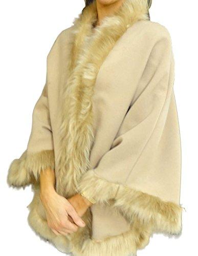 Chique - Abrigo - para mujer Cream Cape Without Hood