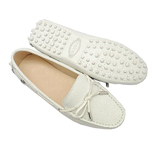 Driving Minitoo Knot Snake Casual Flats print Ladies Moccasin Whtie Shoes Loafers Girls Synthetic Leather UZU8r1RW