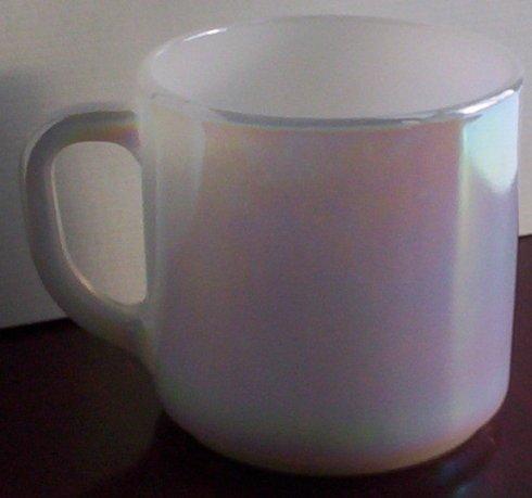 Federal Glass Moonglow Iridescent Coffee Mug, (Federal Milk Glass)