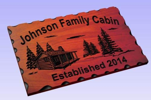 (Diuangfoong Personalized Custom Carved Wood Sign Routed Redwood Rustic Plaque Home Decor)
