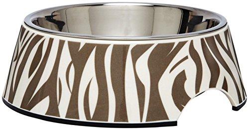 (Pet Studio ZW1502 16 Safari Melamine Bowl, 12-Ounce, Zebra Taupe)