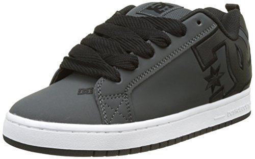Men Smooth Court White Grey Low DC Grey S Graffik Top Sneakers Grw White 8T1nqdnS