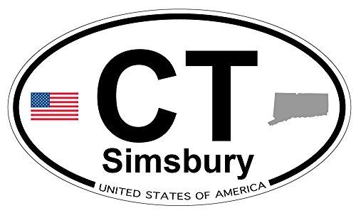 Simsbury  Connecticut Oval Sticker
