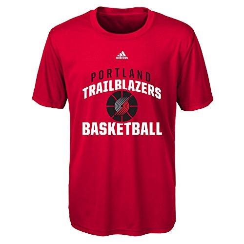 fan products of NBA Rep Big Performance Short Sleeve Tee-Red-L(14-16), Portland Trail Blazers