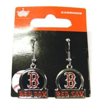 Sox Earrings Dangle (Boston Red Sox Dangle Earrings - Bar Style)