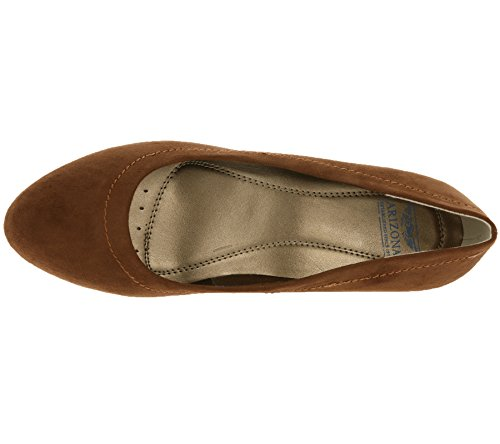 Arizona Femmes Compensées Heel Wedge Pompes Brown 0Y7q0B