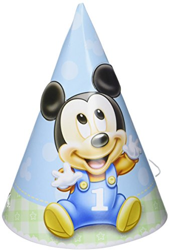 Mickey Mouse 1st Birthday Party Hats 8 Ct. -