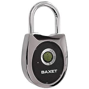 41bVa60sw6L. SS300 BAXET - Lucchetto a Impronta Digitale | Lucchetto antifurto Senza Chiave | Impermeabile Ricaricabile USB | Bagaglio…