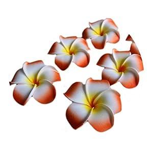 Jamais-Vu Artificial Flowers Wedding Decor,Orange,5cm 116