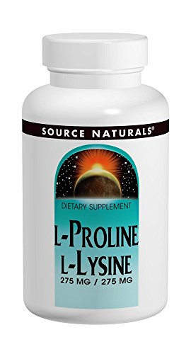 Source Naturals L-Proline 275/L-Lysine 275, 120 Tablets (Best Sources Of Lysine)