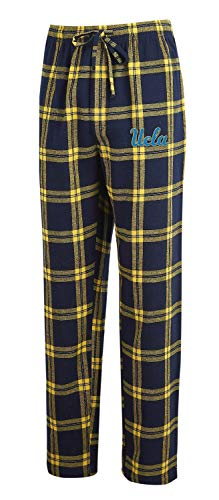 Concepts Sport Men's NCAA-Homestretch-Plaid Sleepwear Pajama Pants-UCLA Bruins-Large (Drawstring Ncaa Ucla Bruins)
