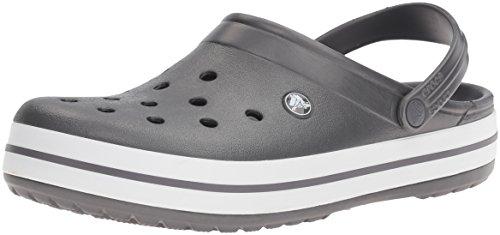 Crocs Crocband Clog, Zuecos con Correa, Unisex Gris (Graphite/White)