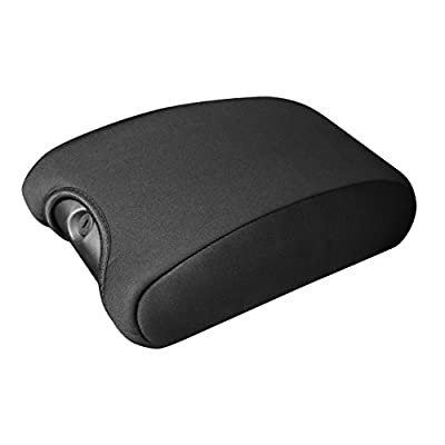 DEDC Jeep Center Console Cover Pad Neoprene Auto Console Armrest Protector for 2011-2016 Jeep Wrangler JK Sahara Sport Rubicon X & Unlimited Black