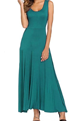 Top Sexy Maxi Tank Pendulum Blue Peacock Dress Western Big Coolred Women Color Beach Pure B6qwBRU