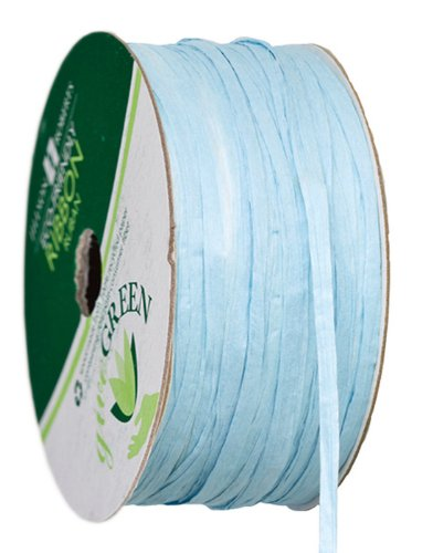 Jillson Roberts Paper Raffia Available in 15 Colors, 1/4-Inch x 50-Feet, Pastel Blue, 6-Spool Count (PR01)