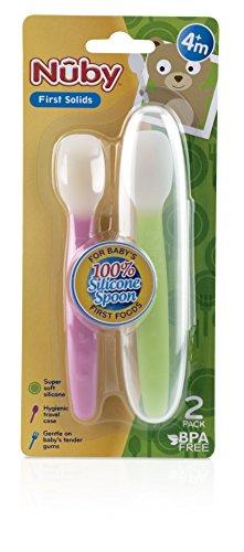 Nuby SoftFlex Silicone Spoon Count