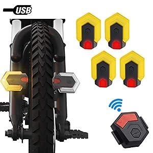 Indicatori Di Direzione Della Bici,Luce Di Avvertimento Di Sicurezza Anteriore E Posteriore Della Bici Con Dispositivo… 1 spesavip