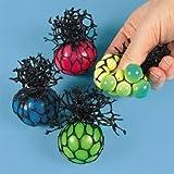 Fun Express Bulk Toy MeshCovered Mini Stress Balls (2 Dozen)